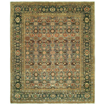 HRI Antique Heriz 122 Light Blue - Medium Blue Rugs