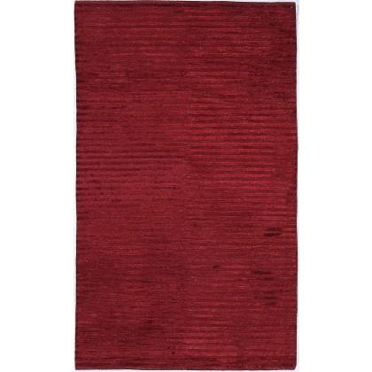 Cyrus Artisan Modern Stripe Burgundy Rugs