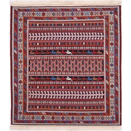 Cyrus Artisan Persian Ghashghai Soumak Rug
