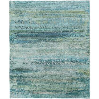 Tufenkian Rebel Silk Prisma Aquamarine Rugs