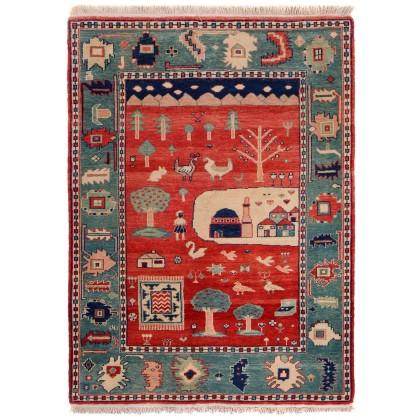 Cyrus Artisan Turkish Azeri Folk Art Rug