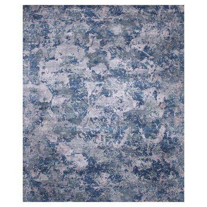 Jaipur Living Chaos Theory By Kavi CKV-13 Rugs-Ensign Blue/Steel Gray