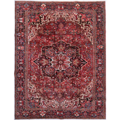 Cyrus Artisan Antique Persian Heriz Rug