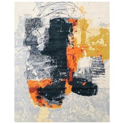 Cyrus Artisan Canvas Art W/Silk JC704 Rugs