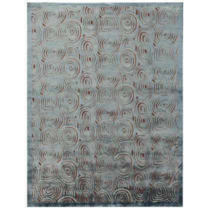 Wool & Silk Contemporary Abstract Rugs