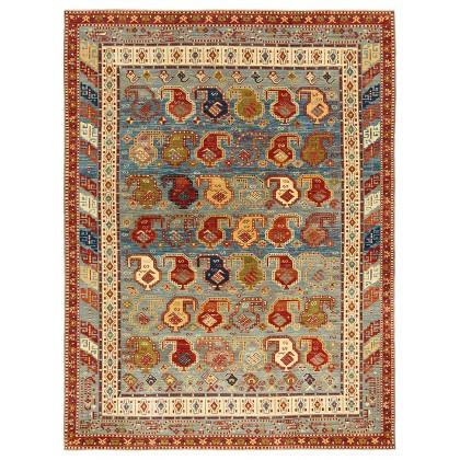 Wool & Silk Afghan Afshar Rugs