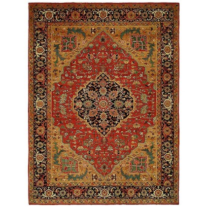 HRI Antique Heriz 100-A Red - Blue Rugs