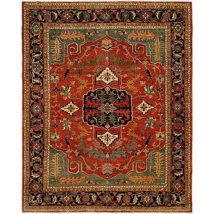 HRI Antique Heriz 102 Red - Blue Rugs
