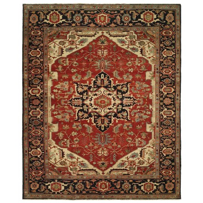 HRI Antique Heriz 103 Red - Blue Rugs