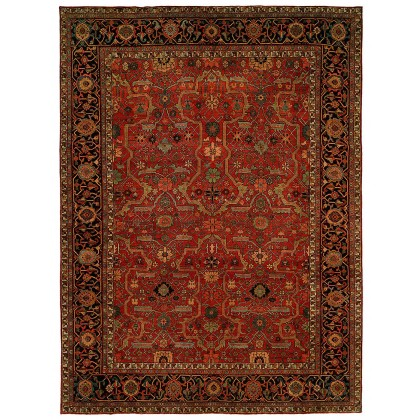 HRI Antique Heriz 104 Red - Blue Rugs
