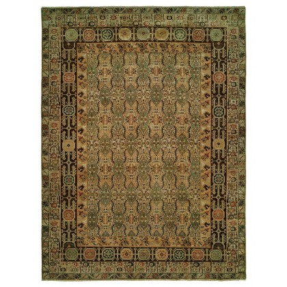 HRI Antique Heriz 120 Camel - Brown Rugs