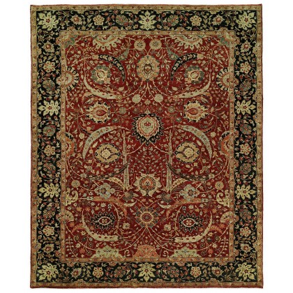 HRI Antique Heriz 123-A Red - Blue Rugs