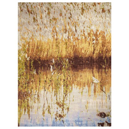 Wool & Silk Contemporary By the Lake Rugs