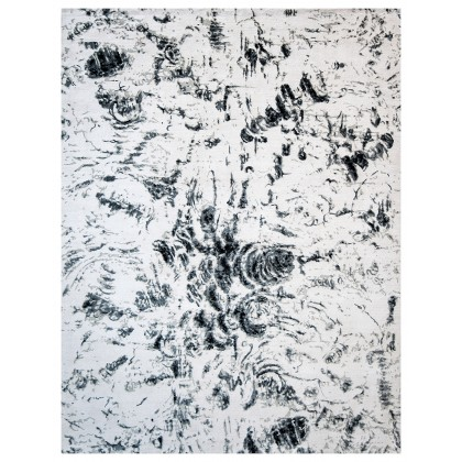 Wool & Silk Contemporary Charcoal Rugs