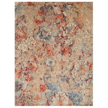Wool & Silk Contemporary Coral Rugs