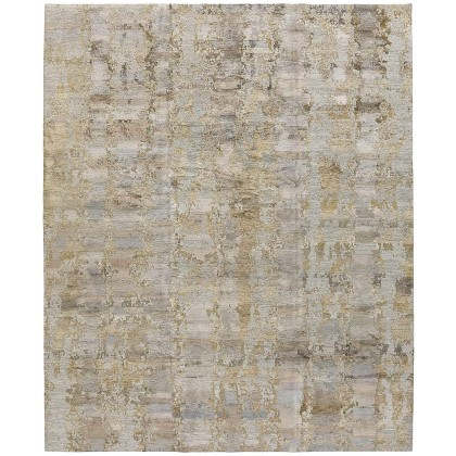 Tufenkian Rebel Silk Desert II Grey Gold Rugs