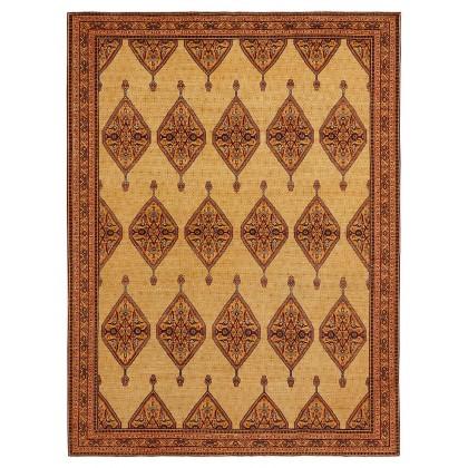 Wool & Silk Afghan Farahan Rugs