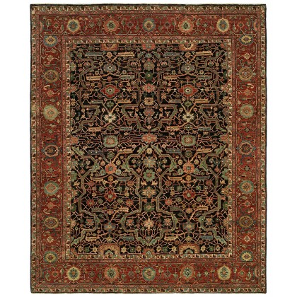 HRI Antique Heriz 121 Blue - Red Rugs