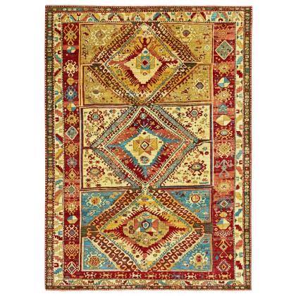 Wool & Silk Afghan Kazak Rugs