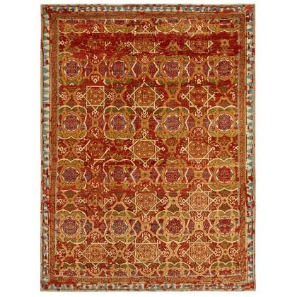 Wool & Silk Afghan Lampas Rugs
