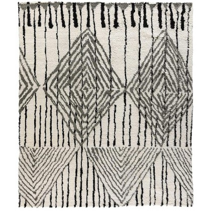 Tufenkian Moroccan Loom Black White Rug
