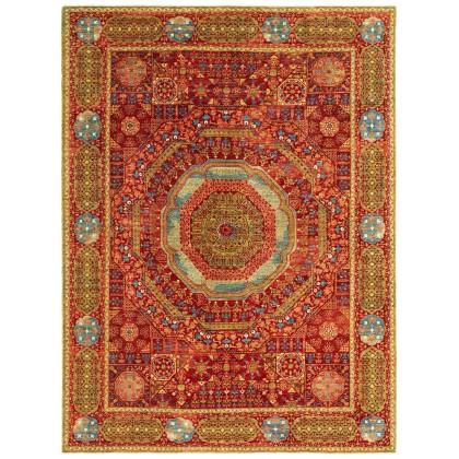 Wool & Silk Afghan Mamluk Rugs