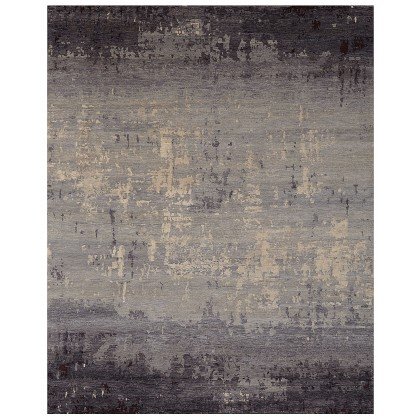 Wool & Silk Contemporary Mezzotint Rugs