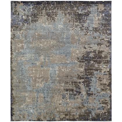 Cyrus Artisan ALA-12 Mocha Blue Silk Rugs