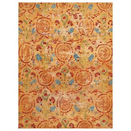 Wool & Silk Afghan Ottoman Rugs
