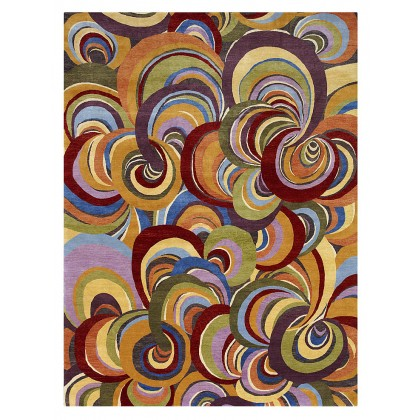 Wool & Silk Contemporary Rainbow Rugs