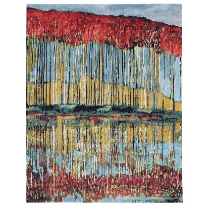 Wool & Silk Contemporary Reflection Rugs