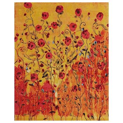 Wool & Silk Contemporary Rhapsody in Bloom Rugs