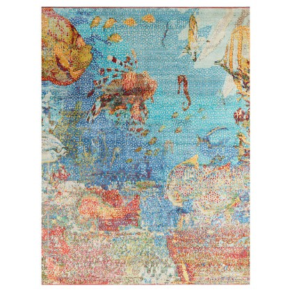 Wool & Silk Silk Road Sea Life Rugs