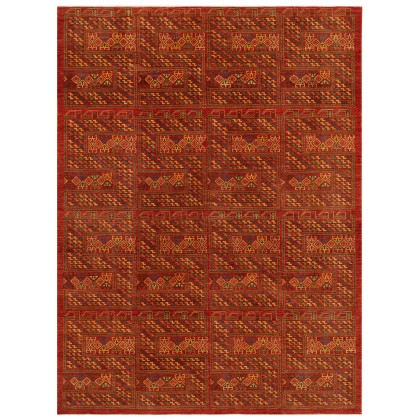 Wool & Silk Afghan Senneh Rugs