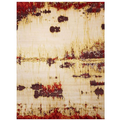 Wool & Silk Contemporary Smoke on the Water Rugs