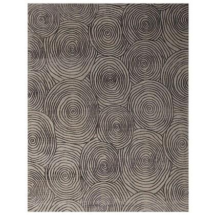 Wool & Silk Contemporary Spyro Gyro Rugs