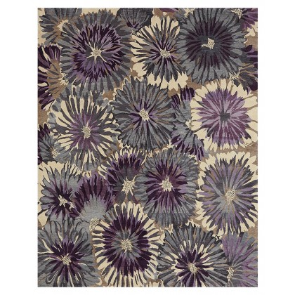Wool & Silk Transitional Sunburst Rugs