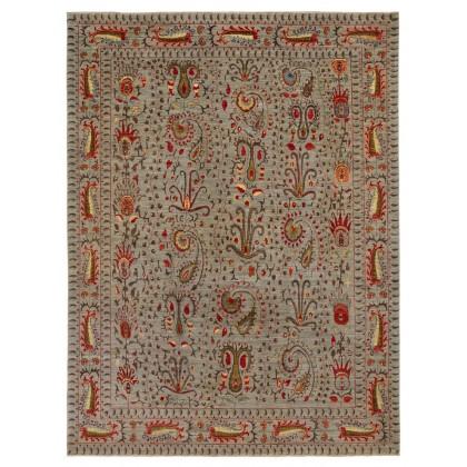 Wool & Silk Afghan Suzani Rugs