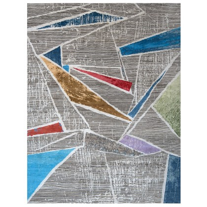 Wool & Silk Contemporary Techno Rugs