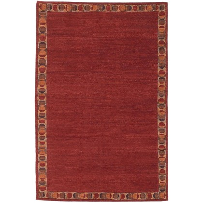 Tufenkian Total Eclipse Border Ruby Rugs