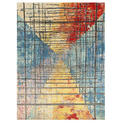 Wool & Silk Contemporary Twilight Zone Rugs