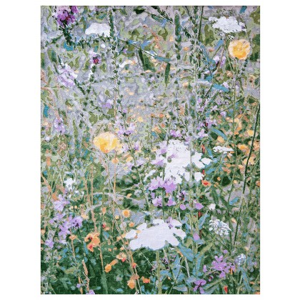 Wool & Silk Contemporary Wildflowers Rugs