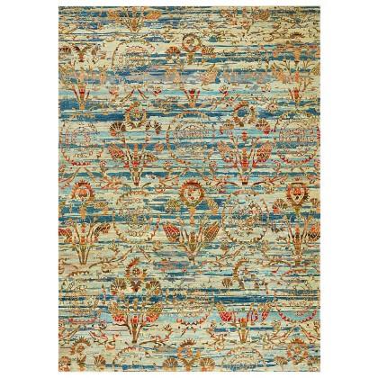 Wool & Silk Afghan Wild Ottoman Rugs
